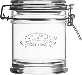 Kilner Signature Clip Top Glass Jar, 15-Fluid Ounces