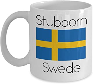 Sweden Coffee Mug - Novelty Funny Swedish Flag Tea Cup For Swedes - Best Birthday & Christmas Gift For Men & Women With Scandinavian Heritage Pride - Proud Nordic Viking Lover Accessories