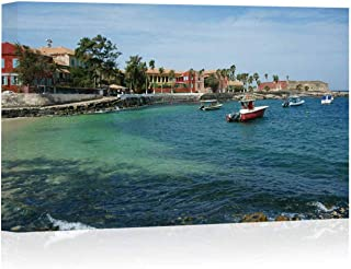 ILE de Goree Island Arts Canvas Print for Living Room Decoration,one of The earliest European settlements in Western Africa Painting Wall Art Picture Print on Canvas,12