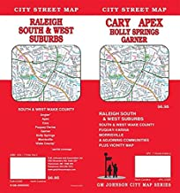 Cary / Apex / Raleigh South & West Suburbs, North Carolina Street Map