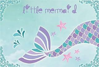 BuEnn 5x3ft Sirenita Fotografía Telón de Fondo Dibujos Animados Hermosa Sea-Maid Tail Fondo para Baby Shower Niños Fiesta de cumpleaños Decoraciones Fondo de Pantalla Photo Studio Props