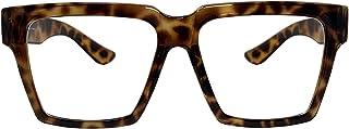 Big Square Horn Rim Eyeglasses Nerd Spectacles Clear Lens Classic Geek Glasses