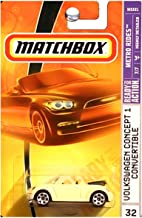 Matchbox Metro Rides VW Volkswagen Concept One 1 Beetle Bug Convertible Mellow Yellow