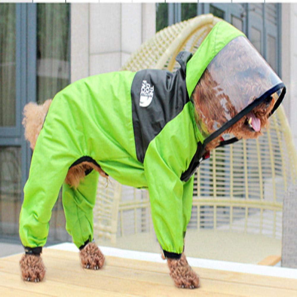Rainproof four-legged raincoat lightweight ponch coat Max 78% OFF hooded Luxury dog