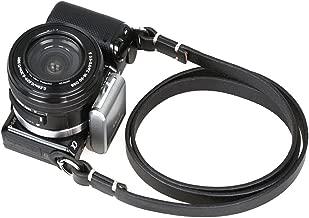 candyanglehome Retro Straight Handmade Supple Genuine Leather Camera Shoulder Neck Strap with Metal Ring for SLR & Micro Cameras Leica, Fujifilm, Sony, Nikon ETC(Black/Brown), Black