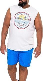 D555 Duke Mens Crosley Big Tall Water Activated Swimming Shorts - Shark/Blue