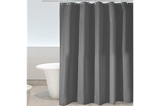 Eforgift Modern Decorative Shower Curtain Water Proof And Mildew Resistant Polyester Standalone Stall Fabric Machine Washable Charcoal Gray