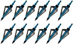 Huntingdoor 12PK Black 3 Blades Archery Broadheads 100 Grain Screw-in Arrow Heads Arrow Tips