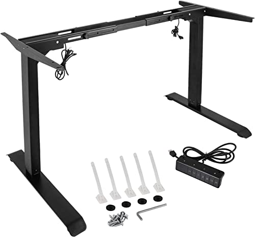 lowest Mophorn Electric Stand Up Desk Frame with Dual Motor, 28-46 Inch lowest Height Adjustable Standing DIY Workstation Base Standing Desk Leg Sit Stand Home Office Desk discount Base online