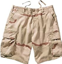 Khaki Vintage Paratrooper Army Military Cargo Shorts Size Medium