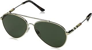 Burberry Women's 0BE3092Q 114571 Sunglasses, Light Gold/Green, 57
