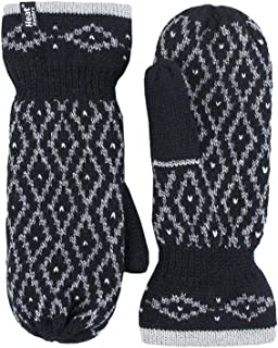 Heat Holders - Womens Knit Fleece Lined Winter Warm Cold Weather Thermal Mittens
