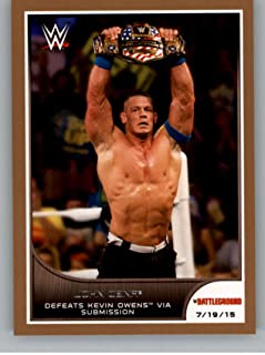 2016 Topps WWE Road to Wrestlemania Bronze Parallel #64 John Cena - Defeats Brie Bella and Sasha Banks NM-MT