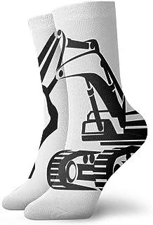 QQOP, N/A Calcetines de Vestir para Hombre, Color Blanco y Negro