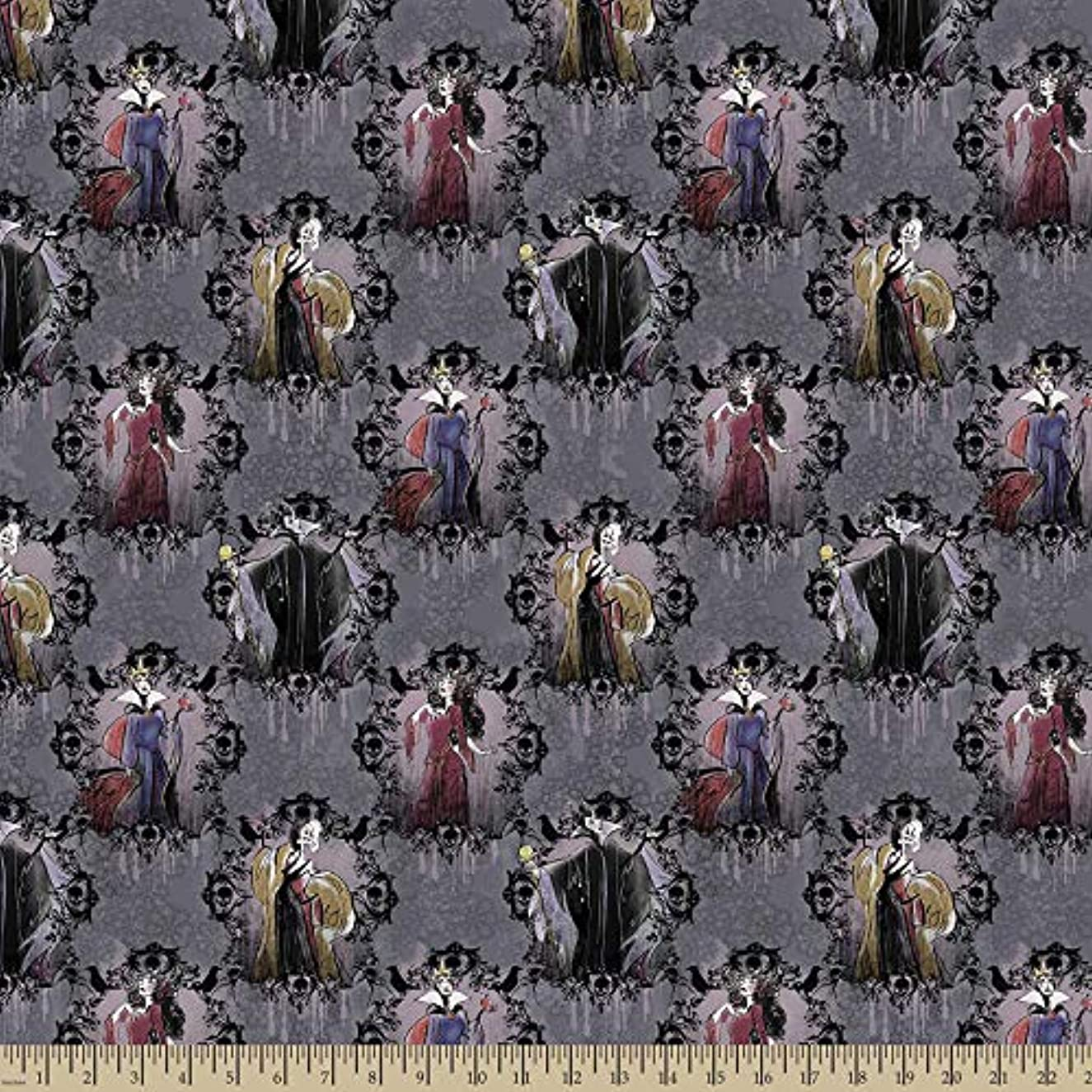 Disney Villains Portraits Fabric Licensed by Disney and Manufactured by Springs Creative (1 Yard)
