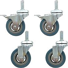 """4 stks Meubilair Casters Wielen 3""""75mm Heavy Duty Swivel Wheels Moving Caster Wheels Rubber Trolley Castor, Vervanging Swi..."""