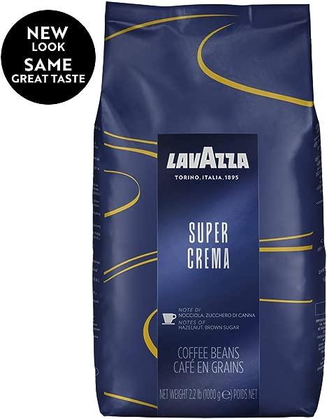 Lavazza Super Crema Whole Bean Coffee Blend Medium Espresso Roast 35 2 Ounce Pack Of 6