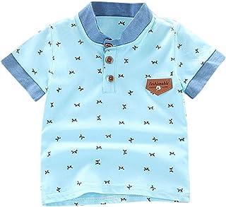 K-Youth de 0 a 5 años Ropa Bebe Niño Recien Nacido Verano Patrón de Carta Camiseta Manga Corta Bebe Blusa de Niños Ropa pa...