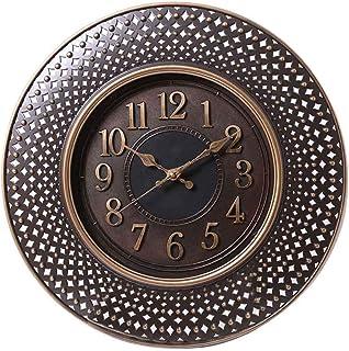 Pan Emirates Merlow Wall Clock, Brown - Dia40.6 x 4.2 Cm