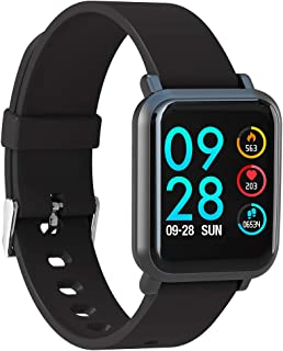 AQFIT W8 Smartwatch IP68 Waterproof Fitness Tracker   1.33 Inch Full Touch Screen Display   Upto 10 Days Battery Life   4....