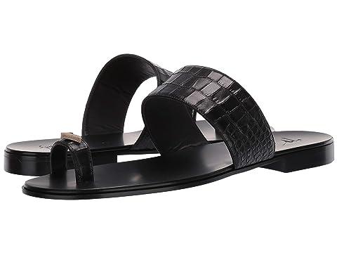 Giuseppe Zanotti Orlando Croc Embossed Sandal
