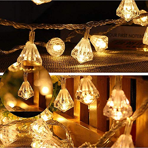 LED-Lichterkette, Batteriekasten Lichterkette Warmes Licht 10 Lichter, 20 Lichter, 40 Lichter Festival Dress Up Halloween, 10