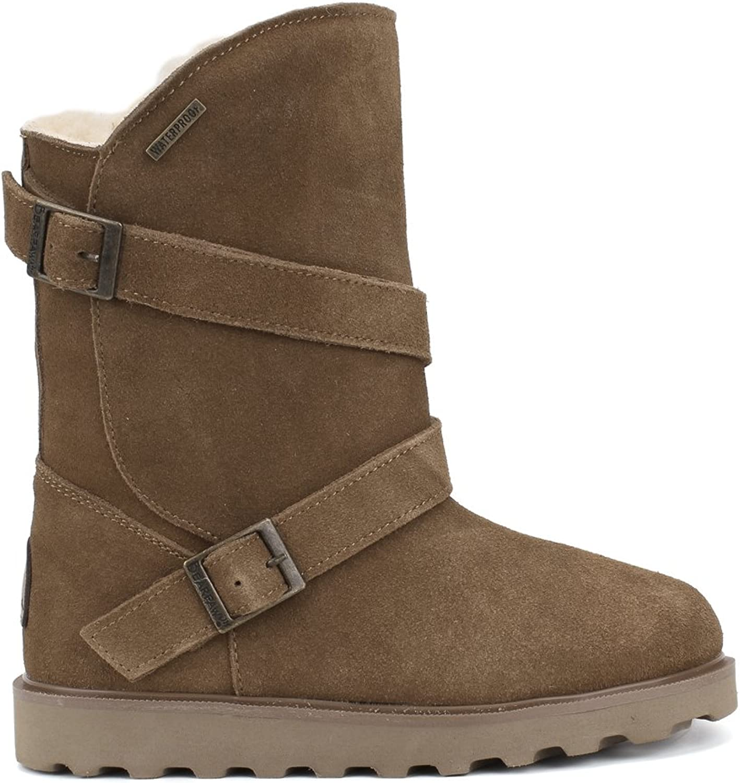 Bearpaw Women's Prim Ii Suede Wool Mid-Calf Suede Boot