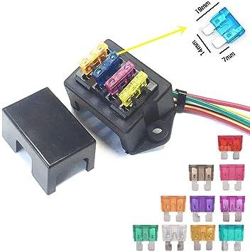 qiorange 12v standard blade-type fuse adapter fuse holder for voltage tap vehicle  blade-type fuses car fuses : amazon.de: automotive  amazon