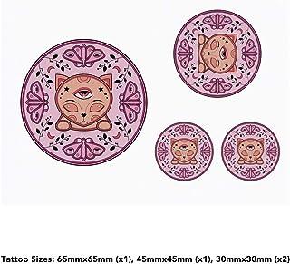 4 x 'Cat Emblem' Temporary Tattoos (TO00036065)