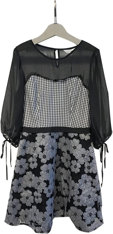 Cufflinks with Waist Check Print Dresses Deesu lily 117230C7557