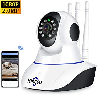 "Hiseeu 1080P Wireless WIFI Pan Tilt HD IP Camera 2.0MP 1/2.7"" CMOS 3.6mm Lens Support PTZ Two-way Audio Night Vision Phone..."