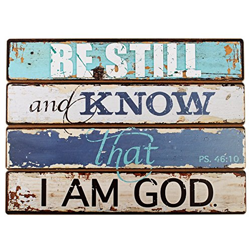 "Lighthouse Collection Psalm 46:10 Wooden Wall Plaque (19"" x 14"")"