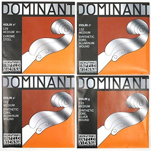Dominantドミナント4/4バイオリン弦セット(E線スチール、ボールエンド)