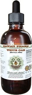 White Oak Alcohol-FREE Liquid Extract, Organic White Oak (Quercus Alba) Dried Bark Glycerite Natural Herbal Supplement, Hawaii Pharm, USA 2 fl.oz