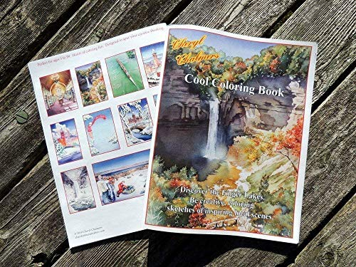 Coloring Book of the Finger Lakes, Cornell University & Ithaca College For All Ages, Watercolors