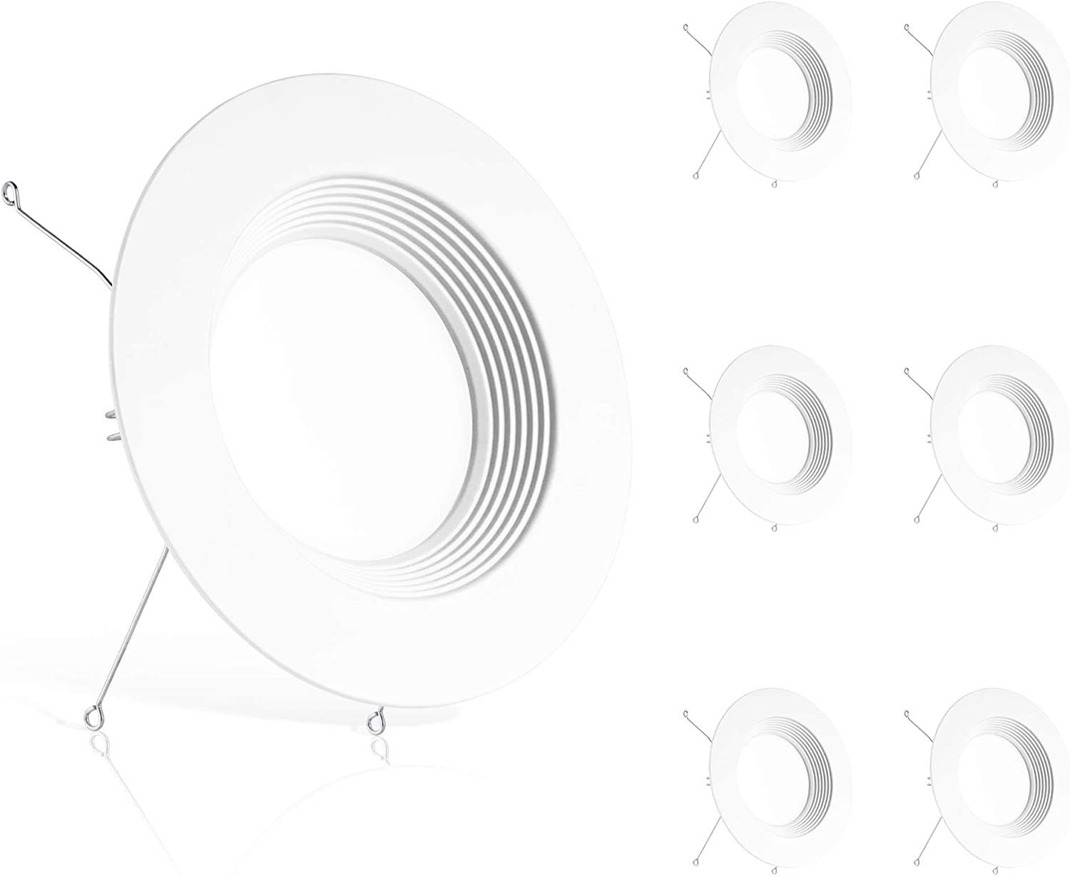 Ensenior 6 Pack 5 Inch LED Downlight 30 Recessed Trim Popularity Baffle Limited time cheap sale
