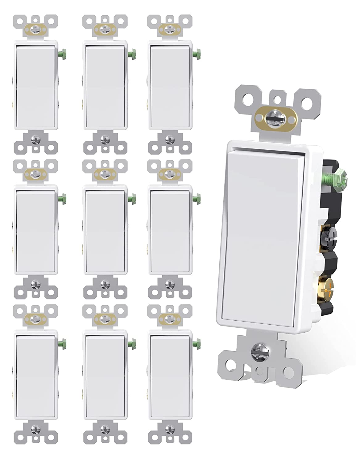 AIDA 4 Way Switch In stock 15 Amp 4-Way White Switches Self-Grounde Light High order