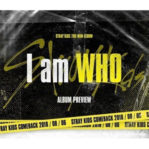 STRAY KIDS - [I am Who 2nd Mini Album 2 Ver Set CD+Poster(on)+PhotoBook+PhotoCard+Pre-Order K-Pop Sealed