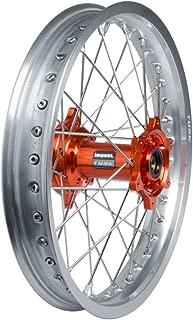 Tusk Impact Complete Wheel - Rear 18 x 2.15 Silver Rim/Silver Spoke/Orange Hub - Fits: KTM 640 LC4 Adventure 2006-2008