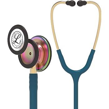 3M Littmann Classic III Monitoring Stethoscope, Rainbow-Finish, Caribbean Blue Tube, 27 inch, 5807