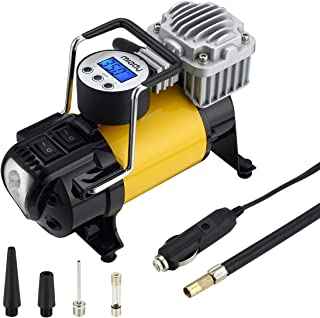 Miady Digital Tire Pump, 12V DC Portable Air Compressor Tire Inflator 150PSI & Auto Shutt-Off Technology with LED Light for Car Tires