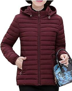 maweisong 女性のフードダウンジャケット軽量アウトウェアのパフコート