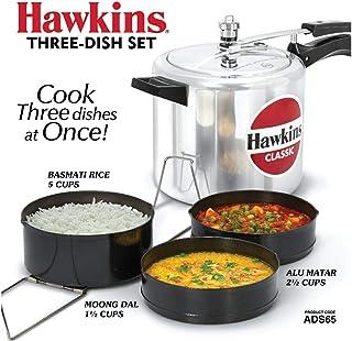 HAWKINS ADS65 PRESSURE COOKER DISH SET, 3, GRAY
