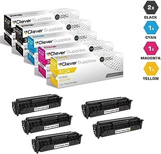 CS Compatible Toner Cartridge Replacement for HP PRO MFP M476DW CF380A Black CF381A Cyan CF382A Yellow CF383A Magenta HP 312A Color Laserjet PRO M476 M476DN 5 Color Set