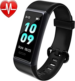 Mangcart Fitness Tracker HR,Activity Tracker with Heart Rate Monitor Watch,IP68 Waterproof Pedometer with Step Counter Sleep Monitor Calorie Counter for Men Women Kids