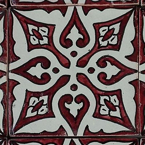 Casa Moro Marokkanische Keramikfliese Hayal 10x10 cm handbemalte orientalische Fliese Kunsthandwerk aus Marokko Wandfliese für schöne Küche Dusche Badezimmer | HBF8024