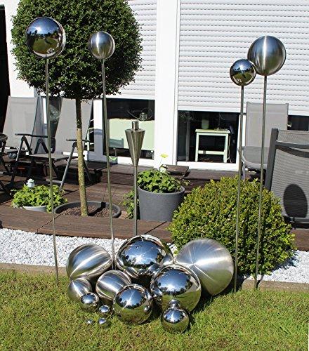 Edelstahl Deko-Kugel 1 Stück - Ø 2,5cm Silber Hochglanz poliert