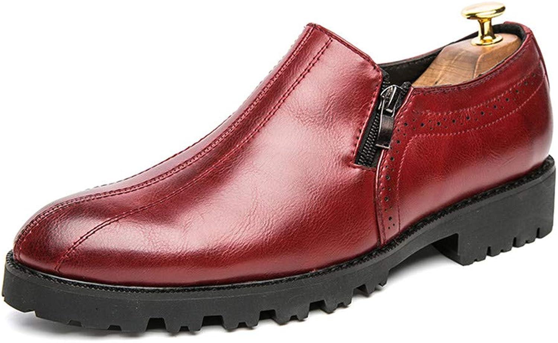 Z.L.F. Z.L.F. Z.L.F. skor herrar Business Oxford Casual British Pointy Slip -Quarter Thick Base Solid Färg skor läder skor  Lagra