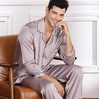 Herren Pyjamahosen Hosen Freizeit Nachtwäsche Satin Seide Schlaf Männer