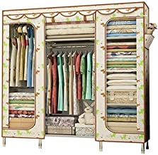 Portable Wardrobe Portable Clothes Closet Wardrobe Storage Freestanding Simple Wardrobe Quick and Easy to Assemble Clothin...